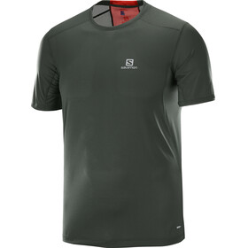 Salomon Trail Runner Running T-shirt Men grey/red